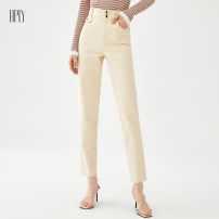 Casual pants Beige 34/XS 36/S 38/M 40/L Autumn 2020 trousers Haren pants Natural waist commute routine 25-29 years old 51% (inclusive) - 70% (inclusive) HDA30420011 Hply / Holly Simplicity cotton Cotton 98.8% polyurethane elastic fiber (spandex) 1.2%