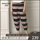 Casual pants black 160/64A/S 165/68A/M 170/72A/L 175/76A/XL Summer of 2019 Ninth pants Straight pants Natural waist commute Thin money 25-29 years old 96% and above Moveup Simplicity printing and dyeing cotton Cotton 100% Pure e-commerce (online only)
