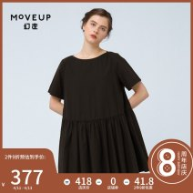 Dress Summer 2020 black 160/80A/S 165/84A/M 170/88A/L Short skirt singleton  Short sleeve commute other middle-waisted Socket other routine 25-29 years old Type A Moveup Simplicity pocket More than 95% cotton Cotton 100% Same model in shopping mall (sold online and offline)