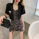 Fashion suit Summer 2021 S,M,L Jacket, suspender skirt 18-25 years old Other / other 319#