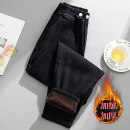Women's large Winter 2020, autumn 2020 black trousers singleton  commute Straight cylinder literature 30-34 years old pocket trousers