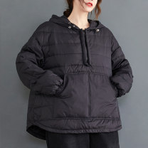 Women's large Winter 2020, autumn 2020 Black, orange, red Large L [100-150 Jin recommended], large XL [150-200 Jin recommended] cotton-padded clothes singleton  commute Straight cylinder thickening Socket Long sleeves literature Hood routine routine 25-29 years old