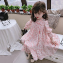 Dress pink female Other / other The recommended height is about 80cm, 90cm, 100cm, 110cm, 120cm and 130cm respectively Other 100% spring and autumn 2 years old, 3 years old, 4 years old, 5 years old, 6 years old, 7 years old
