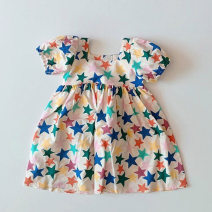 Dress female Other / other Other 100% summer lady Short sleeve love other Princess Dress wd198107 other 2 years old, 3 years old, 4 years old, 5 years old, 6 years old, 7 years old Chinese Mainland Five pointed star, purple heart 80cm,90cm,100cm,110cm,120cm,130cm