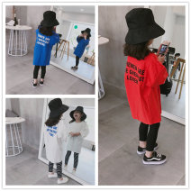 Sweater / sweater Other / other Dark blue, red, white female 100cm(7),110cm(9),120cm(11),130cm(13),140cm(15) spring and autumn