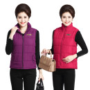 Vest Autumn of 2019 Black, red, lake blue, violet, purple, eggplant purple 2XL,3XL,4XL,5XL have cash less than that is registered in the accounts stand collar Versatile Solid color zipper No model number - Jinyu I-shaped Other / other cotton