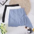 skirt Summer 2021 S,M,L Blue, white, black Short skirt commute High waist A-line skirt Solid color Type A 31% (inclusive) - 50% (inclusive) other Other / other other Korean version