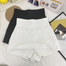 skirt Spring 2021 S,M,L,XL White, black Short skirt commute High waist A-line skirt Type A 31% (inclusive) - 50% (inclusive) other Other / other other Korean version