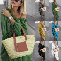 Dress Autumn of 2019 Gray, white, green, blue, yellow, black M,L,XL,2XL,3XL,4XL,5XL Other / other 9533A