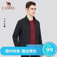 Sweater other Camel D8q265312 black d8q265312 gray blue d8q265312 color blue d8q265312 red d8q137313 dark red d7q265364 army green - d7q265364 gray- S M L XL XXL XXXL other Cardigan Plush stand collar autumn leisure time youth Basic public routine FQ7374112 Cotton polyester other Arrest line