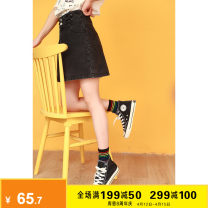 skirt Summer 2021 S M L Black blue Short skirt Versatile High waist A-line skirt Solid color Type A 18-24 years old K70376 More than 95% Denim Kuhnmarvin / kuenmavi cotton pocket Cotton 100% Pure e-commerce (online only)