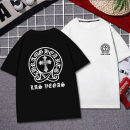 T-shirt Youth fashion routine S M L XL 2XL 3XL XS 4XL 5XL Visliongo / weishige Short sleeve Crew neck easy daily summer Cotton 100% teenagers routine tide Knitted fabric Summer of 2019 Geometric pattern printing cotton Geometric pattern No iron treatment Fashion brand Pure e-commerce (online only)