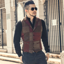 Vest / vest Fashion City Mixlimited / men's Club Blue grid, grey grid, red grid Other leisure Self cultivation Vest Other 100% Autumn of 2019