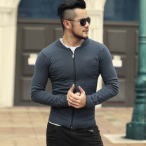T-shirt / sweater Mixlimited / men's Club Youth fashion S M L XL XXL Cardigan Crew neck Long sleeves autumn 2018 Cotton 100% leisure time tide youth Autumn of 2018