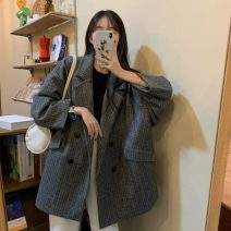 woolen coat Spring 2021 S. M, l, XL, XXXL, XXL, [collection and purchase first], [good quality counter quality], s [75-95 Jin], m [95-105 Jin], l [105-125 Jin], XL [125-150 Jin], 2XL [150-175 Jin], 3XL [175-200 Jin] Brown, black polyester fiber 31% (inclusive) - 50% (inclusive) routine Long sleeves