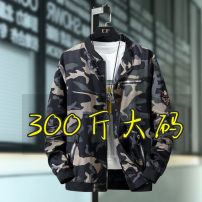 Jacket Other / other Youth fashion No picture, English 4 colors, camouflage, English black, man in black 4XL,5XL,6XL,7xl,8XL,9xl,10XL Extra wide Other leisure autumn Polyester 100% Long sleeves Wear out Large size Medium length