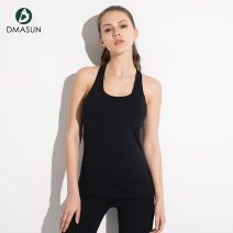 Yoga vest L M S Dmasun / dimassen female sex Black Pink Including breast pad Moisture absorption, perspiration, quick drying and ventilation No season Tight fitting Autumn and winter 2017 DMS091 nylon To the buttocks yoga no