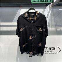 shirt Fashion City Peacebird S,M,L,XL,2XL black routine square neck Short sleeve easy Other leisure summer B1CJB2308 2021 Animal design washing
