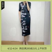Dress Spring 2020 Graph color 0#,1#,2#,3#,4#,5# Mid length dress singleton  Short sleeve commute Others