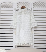Dress Winter of 2019 White (98 Jin inside) 1#,2#,3# Middle-skirt singleton  three quarter sleeve commute Others