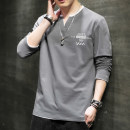T-shirt Youth fashion routine S M L XL 3XL XXL Henderwey Long sleeves Crew neck easy daily autumn Cotton 100% teenagers routine Youthful vigor Cotton wool Summer 2020 Alphanumeric printing The thought of writing No iron treatment Fashion brand Pure e-commerce (online only)