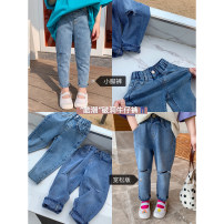 trousers Other / other female 80, 90, 100, 110, 120, 130, 140, 150 Blue (baggy Leggings), blue (baggy Leggings), blue (baggy Leggings presale 4.8), blue (baggy Leggings presale 4.8) spring and autumn Ninth pants There are models in the real shooting Jeans Leather belt middle-waisted other