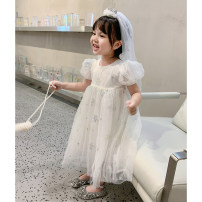 Dress female Other / other Other 100% summer princess Short sleeve Solid color other other 18 months, 2 years old, 3 years old, 4 years old, 5 years old, 6 years old, 7 years old