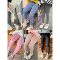 trousers Other / other female 80, 90, 100, 110, 120, 130, 140, 150 Black, grey, apricot, blue, pink, coffee, grey (pre-sale 3.31), apricot (pre-sale 3.31), blue (pre-sale 3.31), black (pre-sale 4.8) spring and autumn Ninth pants leisure time There are models in the real shooting Leggings Leather belt