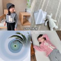 T-shirt Grey, pink Other / other 80, 90, 100, 110, 120, 130, 140, 150 female spring and autumn other other 18 months, 2 years old, 3 years old, 4 years old, 5 years old, 6 years old, 7 years old