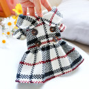 Pet clothing / raincoat currency Dress BB-HOUSE princess Black and white