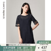 Dress Summer 2020 dark blue 155/76A/S 160/80A/M 165/84A/L 170/88A/XL 175/92A/XXL Mid length dress singleton  Short sleeve Crew neck High waist Solid color other 35-39 years old Lance from 25 Lace XXLC1G218WOP017AA 31% (inclusive) - 50% (inclusive) cotton Cotton 41.1% polyamide 37.1% others 21.8%