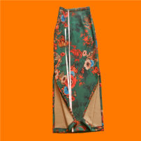 skirt Spring 2020 XXS,XS,S,M,L,XL,2XL,3XL longuette Retro High waist skirt Decor Type H 25-29 years old 31% (inclusive) - 50% (inclusive) other Deer skin chain 161g / m ^ 2 (including) - 180g / m ^ 2 (including)