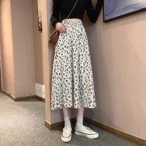 skirt Summer 2021 Average size Off white, black Mid length dress Versatile High waist A-line skirt Decor Type A 18-24 years old 31% (inclusive) - 50% (inclusive) other