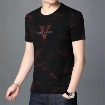 T-shirt Fashion City Red, blue, army green thin 165/S,170/M,175/L,180/XL,185/2XL,190/3XL,195/4XL Others Short sleeve Crew neck easy daily summer Polyamide fiber (nylon) 40.7% viscose fiber (viscose fiber) 29.6% cotton 25.2% polyurethane elastic fiber (spandex) 4.5% routine tide Rib  Alphanumeric