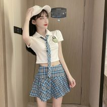 Fashion suit Summer 2021 S,M,L Blue Plaid tie T, red plaid tie T, Blue Plaid suit, red plaid suit 18-25 years old Other / other Y3.4 31% (inclusive) - 50% (inclusive) cotton