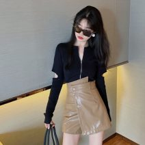 Fashion suit Autumn 2020 S. M, average size T-shirt white, T-shirt black, leather Shorts Black, leather shorts card color 18-25 years old Other / other 81% (inclusive) - 90% (inclusive)