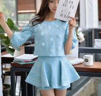 Fashion suit Spring of 2019 M, L Top + skirt pants