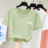 T-shirt polyester fiber 51% (inclusive) - 70% (inclusive) Summer 2020 Short sleeve Regular payment Crew neck easy routine commute 562419584984zkxsL3ZmdPBOfAORpVNjiSZ2l40j7vHhgYCTCc4LWlPVH6J 18-24 years old Xuemengya Geometric design of cartoon animal pattern youth Korean version printing S M L XL XXL