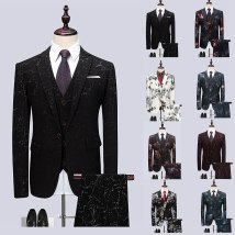 man 's suit Youth fashion Others routine 4XL XXXXXL 6XL M L XL 2XL 3XL nine thousand eight hundred and twenty-five Polyester 100% Self cultivation A single breasted button Other leisure Back middle slit Large size Long sleeves spring routine tide Casual clothes Baling collar Round hem Solid color