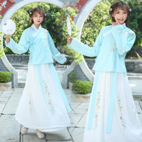 National costume / stage costume Autumn of 2018 Set meal S M L B0749 Han Yijia 18-25 years old Other 100% Pure e-commerce (online only)