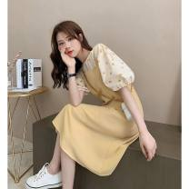 Fashion suit Summer 2021 S,XL,L,M,XXL Black, yellow 18-25 years old 71% (inclusive) - 80% (inclusive) rabbit 's hair