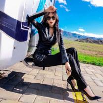 Fashion suit Autumn 2020 XS S M L XL Pre sale as shown 25-35 years old Colorful X20DW2670 Viscose fiber (viscose fiber) 41.9% polyamide fiber (nylon) 30.9% polyester fiber 23.4% polyurethane elastic fiber (spandex) 3.8% Exclusive payment of tmall