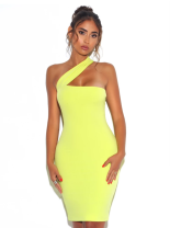 Dress Autumn of 2019 Fluorescein XS,S,M,L Short skirt singleton  Sleeveless commute other middle-waisted Solid color zipper One pace skirt other Others 25-29 years old Kleezy / kliz Britain 81% (inclusive) - 90% (inclusive)