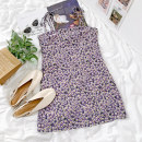 shirt Purple suspender skirt S, M Summer 2021 other 96% and above Long sleeves commute Single row multi button Solid color 18-24 years old Straight cylinder