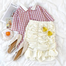 Casual suit Summer 2021 Pink top , Apricot skirt Average size 18-25 years old Other / other 96% and above polyester fiber