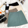 skirt Summer 2021 S,M,L Black, apricot, khaki, green 18-24 years old More than 95% other