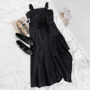 Dress Summer 2021 black Average size Middle-skirt singleton  Sleeveless commute other High waist Solid color zipper Irregular skirt other camisole 18-24 years old Type A Other / other Korean version 81% (inclusive) - 90% (inclusive) other polyester fiber