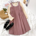 Fashion suit Summer 2021 Average size Apricot shirt, purple strap skirt 18-25 years old 96% and above cotton