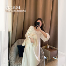 Pajamas / housewear set female YESWOMEN S. M, l, average size other Short sleeve Simplicity pajamas summer Thin money Solid color shorts Socket youth other F575 longuette