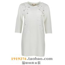 Dress Spring 2016 White, black, white light flaw S-155/80A,M-160/84A,L-165/88A Short skirt singleton  elbow sleeve commute Crew neck Solid color Socket routine 35-39 years old Type H Other / other Simplicity Inlaid diamond, gauze net 5B763HD More than 95%